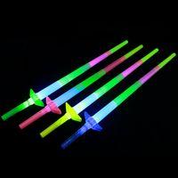 Jouets de stand en plastique lumineux pour enfants créatifs, concert quatre tige de lumière télescopique, argent d'explosion, jouets, épée