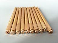 10PCS التجميل Microblade الوشم القلم دليل دائم بنية قلم الحواجب الشفاه إبرة نصيحة حامل أداة العرض