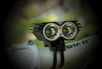 5000LM 2x CREE XML XM-L T6 LED bicicleta luz da bicicleta ciclismo X2 bicicleta luz farol farol + carregador + bateria