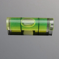 Haccury (25 قطعة / الكثير) 9.5 * 34 ملم أجزاء أنبوب مستوى فقاعة فقاعة مستوى البلاستيك