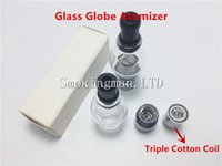 HOT Glass Globe Atomizer with Triple Cotton Coil pyrex glass...