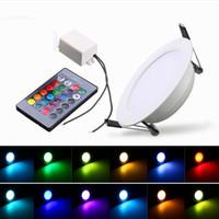 شحن مجاني RGB أدى أضواء أسفل 3 واط 5 واط 10 واط أدى لوحة الإضاءة النازل ac110 / 220 فولت داخلي الصمام أضواء راحة