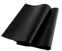 الشواء الشواية بطانة شواء شواء حصيرة المحمولة غير عصا وقابلة لإعادة الاستخدام جعل الشواية سهلة 33 * 40 سنتيمتر 0.2 ملليمتر الأسود فرن موقد ماتس بواسطة dhl