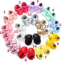 2016 New Baby kids soft sole PU leather first walker shoes b...