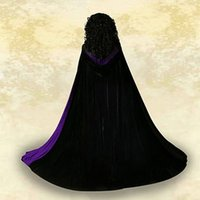 Velours à capuche velours velours vampire vampire wicca robe médiéval larp cosplay cape féminin femmes vestes well wraps manteaux caps