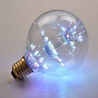 Creative Nouveau Design G80 E27 220V LED Diamant Stars Edison lumière Ball stars ampoule Décoratif LED RGB Lumière pour Chambre Salon