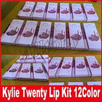 Я хочу все это Kylie Birthday Edition Gloss Lipstick Kylie lip Kit Lipliner lipgloss жидкая помада матовая 12 цветов Twenty DHL shipping