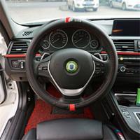 38CM Car Styling Lenkradbezug Innendekor-Carbon-Faser-Sport-Abdeckung für AUDI A1 A3 A4 A5 A6 A7 A8 RS R8 TT Q3 Q5 Q7