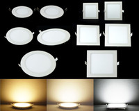 LED Lights Down Luzes do painel 3W 6W 9W 12W 15W 18W 24W LED recesso luzes Downlights fixação de teto Down Light Quente / Frio / Natural Branco nº 25