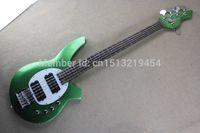 熱い販売のアクティブピックアップミュージックマンボンゴライトグリーン5文字列電気ベースギターベース送料無料