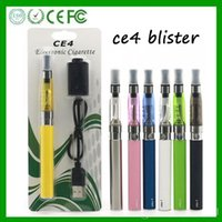 HOT EGO CE4 Blister Kits Colorful E Cigs Atomizers Batterie 1100mah Clear Ce4 Ego Blister Pack Kit