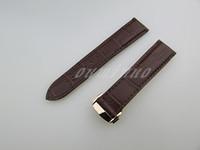 20 milímetros ou 22 milímetros New alta qualidade preto e marrom de couro genuíno as faixas de relógio pulseira com Rose Gold fecho Para Omega Watch