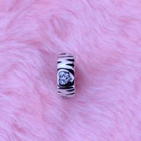 2016 Novo Dia das Mães Mãe Spacer Beads para Fazer Jóias S925 Sterling-Silver-Jewelry Amor DIY Charme Serve Encantos Pandora Pulseira 1 pc / lote