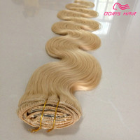 2015 NEW HAIR 7A Clip in hair extension body wave Blonde 18&...