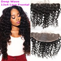 Brazilian Hair Full Frontal Lace Closure Bleached Knots Deep...