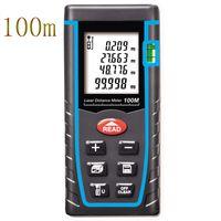 Großhandels-Entfernungsmesser 40M 60M 80M 100M Meter Digitaler Laser-Entfernungsmesser Messen Entfernung / Fläche / Volumen Winkel Laser mit tragbarer Tasche