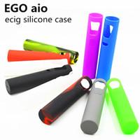 Lo nuevo de Ecig Funda de Silicona Funda de piel de silicona colorido suave cubierta de la piel Para eGo AIOkit cigarrillo electrónico libre de DHL