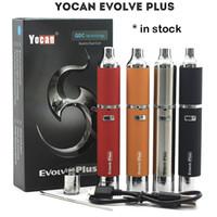 기존 Yocan Evolve PLUS 키트 1100mAh 왁스 펜 기화기 펜 Quartz Dual Coil Evolve Vaporizer E Cigs의 최신 버전 업데이트!