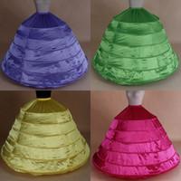 Auf Lager Ballkleid Petticoats Hohe Qualität 6 Hoops Crinoline Unterkirt für Hochzeitskleid Bridal Kleid # BW-Q003