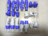 10 Satz Neutrik PowerCON Typ A NAC3FCA + NAC3MPA-1 Chassis Stecker Panel Adapter