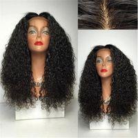 Seide Basis Spitze Perücken Brasilianische menschliche Haarperücke volle Spitze oder Spitze vorne kinky lockig billig lang mit gebleichten Knoten Babyhaare
