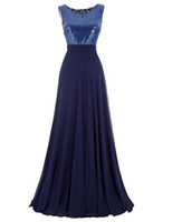 Kostenloser versand scoop neck brautjungfer kleider lange navy blau 2016 billighochzeit party kleider vestidos de noiva