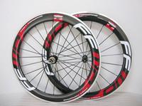 FFWD F6R 빨리 앞으로 60mm 바퀴 합금 알루미늄 브레이크 카본 레드 클린 처 자전거 바퀴 도로 자전거 탄소 휠셋