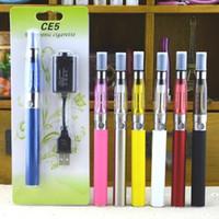 eGo CE5 Kits Blister kit 650 mah 900 mah 1100 mah egot cigarro eletrônico kits de partida único e cig blister pacote ce4 ce5 vaporizador 20 pçs / lote5