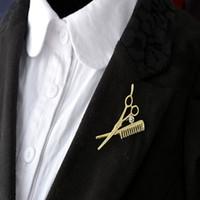 Yeni Varış Combs Makas Broşlar Kadınlar Için / Erkekler Moda Takı Alternatif Broş Pins Unisex Aksesuarları Yüksek Kalite