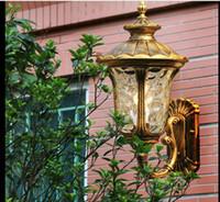 Orientale terrazzo europea pastorale lampada da parete impermeabile balcone esterno corridoio corridoio esterno, LED lampada da parete rivestimenti in alluminio