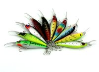 HENGJIA 50pcs Fishing Set Hot 3D Minnow Lure 10 color 11. 7g ...