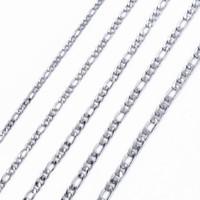 Collane a catena lunghe della catena di Figaro lunghe di spessore 4-8mm della catena ovale di colore argento della roccia degli uomini delle donne di alta qualità all'ingrosso
