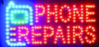Chegando novo super brilhantemente personalizado levou sinais de luz led telefone consertos sinal billboard neon led telefone consertos de sinais