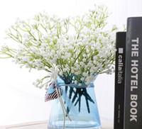 Yapay Babysbreath Düğün Dekoratif 5 Kaynaklanıyor Plastik Gypsophila 135 Küçük Çiçekler Gelin Buketi Çiçek Kaliteli Flores
