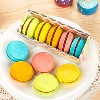 High Quality 20 pcs lot Erasers Cute Cake Shape Rubber Earse...