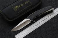 Hot Sales VENOM 2 KEVIN JOHN Knife M390 Blade Titanium Alloy...
