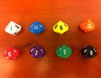 D10 16 мм 10 односторонний многогранные кости 1-10 цифровые кубики смешные игры для партии питьевой игры разноцветные RPG игры акриловые высокое качество #P5