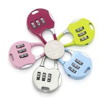 ホット3桁のダイヤルの組み合わせコード番号ロック南京錠のズロックのための荷物ジッパーバッグバックパックハンドバッグスーツケース引き出しZA1350