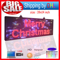Programmable led sign full color 39x14 inch high brightnessP...