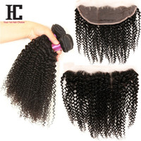 Mongolian Kinky Curly Hair With Closure Full Lace Frontal 3 ...