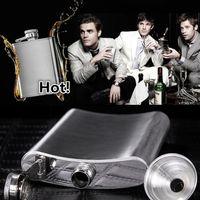 Hombres Vasos 8 oz cadera del acero inoxidable frascos frascos portátiles de bolsillo matraz jarra matraz 100PCS 1777