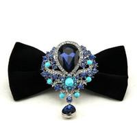 El mejor cuello para los hombres para los hombres fiesta de la noche boda lazo de lazo Diamond Butterfly Wool Bowknot casual Bowties Stage Boxed Regalo