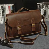 2016 borsa del progettista di marca borse in vera pelle vintage borse a tracolla messenger per gli uomini portatili borsa borse da lavoro uomini borsa a tracolla affari s