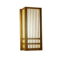 El yapımı Çin Koridor Girişinde Bambu Duvar Işıkları Yaratıcı Japon Balkon Koridor Duvar Aplikleri Doğal Bambu Duvar Lambası