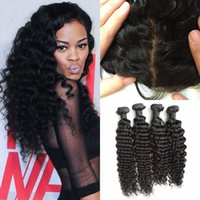 Peruvian Frontal Closure Bundles 5pcs Lot 100% Human Hair Vi...