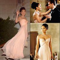 Дженнифер Лопес Розовый вечернее платье Длинные Формальное Western знаменитости носить специальные платья случаю Пром платье