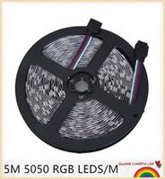 RGB LED 스트립 5050 SMD 5m 300LEDS 유연한 빛 12V 쿨 화이트 / 따뜻한 화이트 / 레드 / 그린 / 블루 유연한 LED 리본 다이오드 테이프