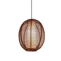 Linterna de ratán del sudeste de Asia restaurante techo lámpara de techo lámpara de estudio lámpara colgante comedor elegante lámparas de araña