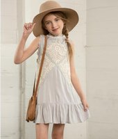Teenagers Lace Ruffle Dresses 2016 Junior Baby Girls Princes...