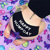 Elliehouse women Happy Humpday Letter Print Underpants Seaml...